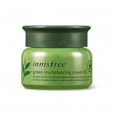 Крем для лица Innisfree Green Tea Balancing Cream EX с экстрактом зеленого чая, 50 мл