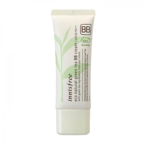 Натуральный ББ крем Innisfree Eco Natural Green Tea BB Cream SPF29 PA++ #2 Natural B с зеленым чаем, 40 мл