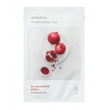 Маска для лица Innisfree My Real Squeeze Mask Pomegranate с гранатовым соком, 20 мл