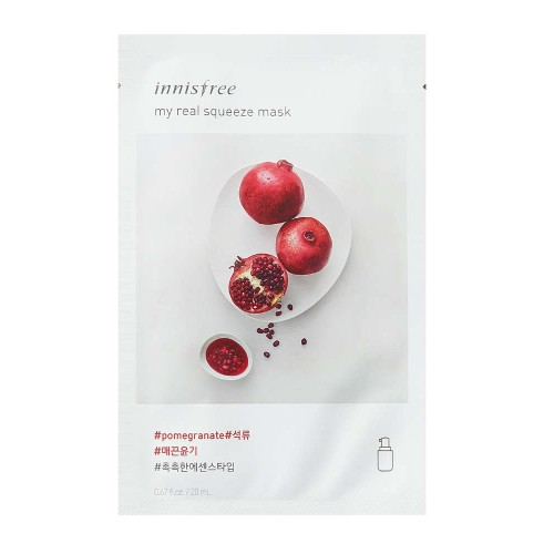 Маска для лица Innisfree My Real Squeeze Mask Pomegranate с гранатовым соком, 20 мл