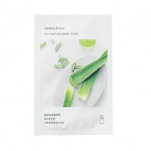 Маска для лица Innisfree My Real Squeeze Mask Cucumber с соком огурца, 20 мл