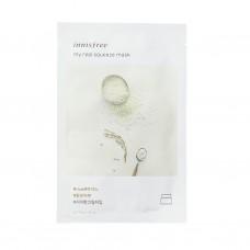 Трехслойная тканевая маска для лица Innisfree My Real Squeeze Mask Rice с экстрактом риса, 20 мл