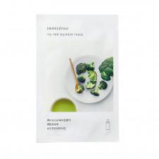 Листовая маска для лица Innisfree My Real Squeeze Mask Broccoli с экстрактом брокколи, 20 мл