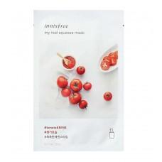 Листовая маска для лица Innisfree My Real Squeeze Mask Tomato с экстрактом томата, 20 мл