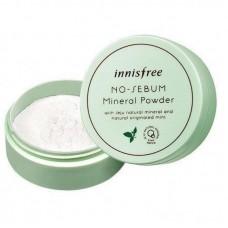 Бесцветная матирующая рассыпчатая пудра Innisfree No Sebum Mineral Powder, 5 г