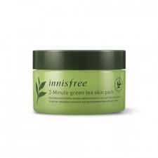 Интенсивная трех-минутная маска Innisfree 3-Minute Green Tea skin Pack, 70 мл