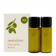 Набор пробников тоник и лосьон для лица Innisfree Olive Real Skin Ex. Dual Kit с маслом оливы, 8+8 мл