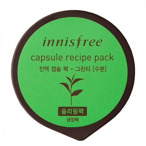 Капсульная маска для лица Innisfree Capsule Recipe Pack Green Tea с экстрактом зеленого чая, 10 мл