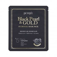 Гидрогелевая маска для лица Petitfee Black Pearl & Gold Hydrogel Mask Pack с черным жемчугом, 30 мл