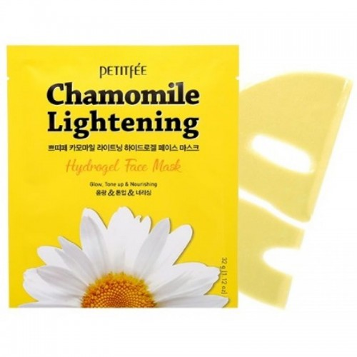 Гидрогелевая маска Petitfee Chamomile Lightening Hydrogel Face Mask с экстрактом ромашки, 32 мл