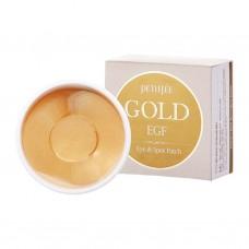 Гидрогелевые патчи для кожи вокруг глаз Petitfee Gold & EGF Eye•Spot Patch с золотом, 60 шт.