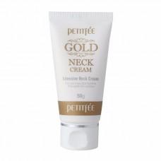 Омолаживающий крем для шеи Petitfee Gold Neck Cream с золотом, 50 мл