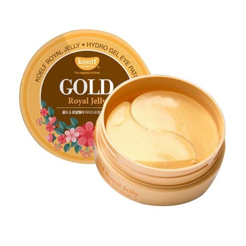 Гидрогелевые патчи Petitfee Koelf Gold & Royal Jelly Eye Patch с золотом и маточным молочком, 60 шт.