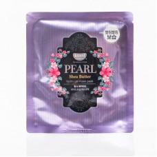 Гидрогелевая маска для лица Petitfee Koelf Pearl & Shea Butter Mask с маслом ши и жемчужной пудрой, 30 мл