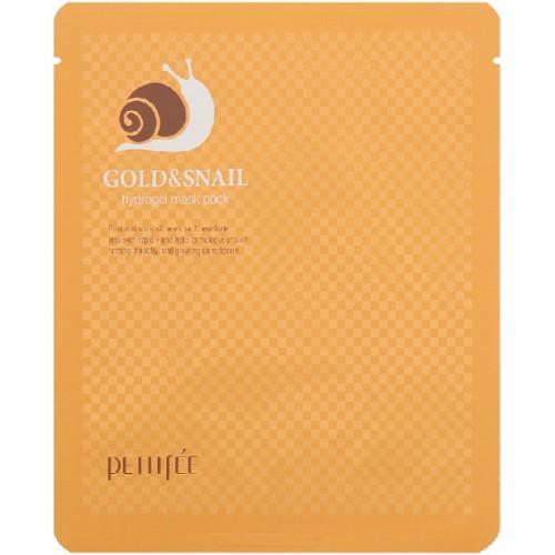 Гидрогелевая маска для лица Petitfee Gold & Snail Mask Pack с золотом и улиточным муцином, 30 мл