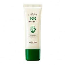 Солнцезащитный ББ крем Skinfood Aloe Sun BB Cream SPF20 PA+ #02 Natural Beige с экстрактом алоэ, 50 мл