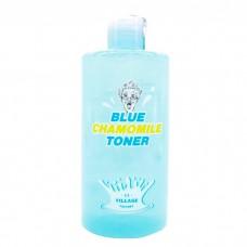 Успокаивающий тонер Village 11 Factory Blue Chamomile Toner с экстрактом голубой ромашки, 400 мл