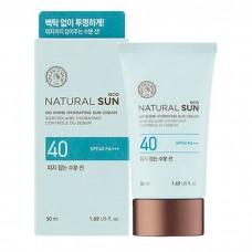 Матирующий солнцезащитный крем Natural Sun Eco No Shine Hydrating Sun Cream SPF40/PA+++, 50 мл