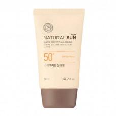 Матирующий солнцезащитный крем Natural Sun Eco Super Perfect Sun Cream SPF50+PA+++, 50 мл