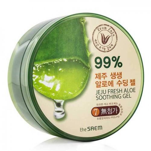 Гель с экстрактом алоэ универсальный увлажняющий The Saem Jeju Fresh Aloe Soothing Gel 99%, 300 мл old