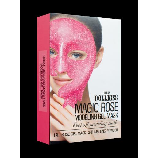 Маска для лица гелевая Urban Dollkiss Magic Rose Modeling Gel Mask с розой, 50 гр.